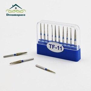Image 5 - Brocas de carboneto para polimento hp, brocas dentárias de alta velocidade de diamante fg para polimento, brocas redondas de hp com 100 peças