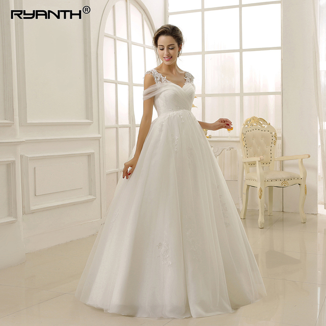 39183137867f9 Luxury Floor Length Spaghetti Strap Empire Pregnant Wedding Dress 2019 New  Arrival Lace Up Back Maternity Wedding Gown Customize