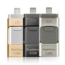 Горячая для iPhone 6 6 S плюс 5 5S Ipad ручка привода HD Memory Stick двойного назначения мобильного OTG Micro usb флэш-накопитель 8 ГБ 16 ГБ 32 ГБ 64 ГБ