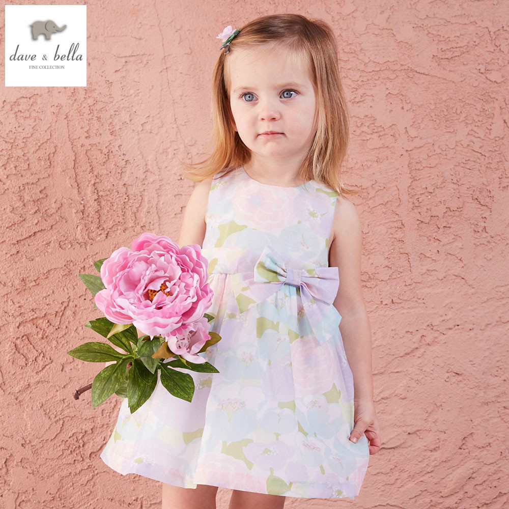 DB5060 dave bella summer baby girl wedding dress baby sweet princess dress floral dress kids birthday party kids costumes db4953 dave bella summer baby girl princess dress baby big bow net yarn wedding dress kids birthday clothes dress girls costumes