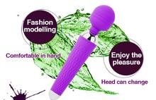 10 Speeds USB Charge AV Magic Wand Massage Dildo Vibrator Vagina Clitoris Female Woman Beginner G-Spot Masturbation Sex Products