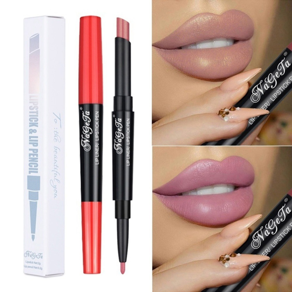 12 Color Lipstick Waterproof Nude Pink Matte Red Lip Liners Pencil Stick Long Lasting Sexy Lips Make Up Mate Lipsticks