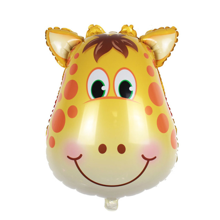 Decorate 64x44cm yellow deer Zebra monkey foil balloons wedding event christmas halloween festival birthday party HY 213 in Ballons Accessories from Home Garden