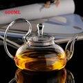 600ML Hitze Beständig Teekanne Glas Transparent Tee Topf Wasser Wasserkocher mit Infuser Tee Blatt Pflanzliche Kaffee Küche Zubehör-in Teekannen aus Heim und Garten bei