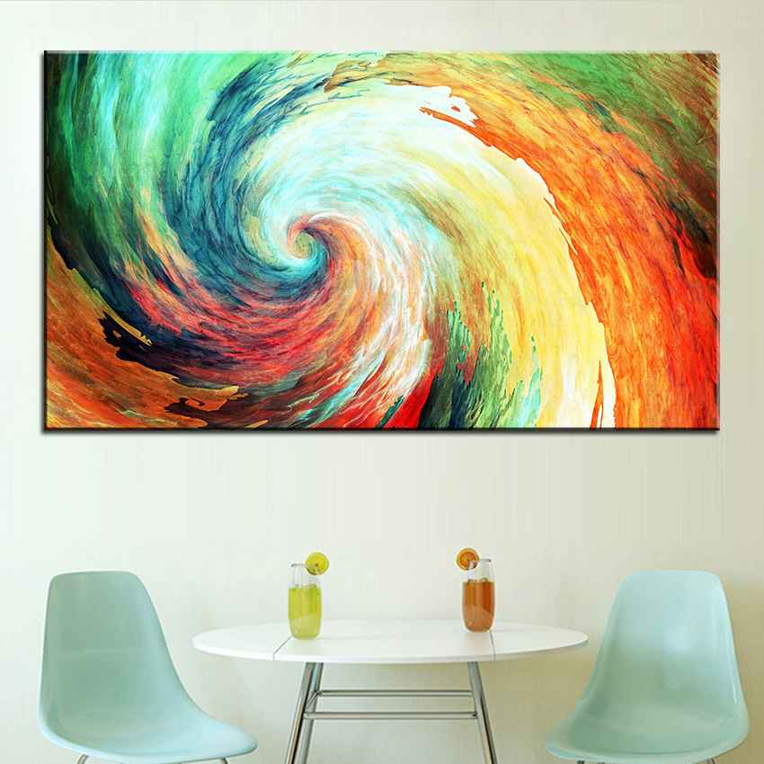 Large size Printing Oil Painting swirl Wall painting Decor Wall Art Picture For Living Room painting No Frame-in Painting u0026 Calligraphy from Home u0026 Garden ... & Large size Printing Oil Painting swirl Wall painting Decor Wall Art ...