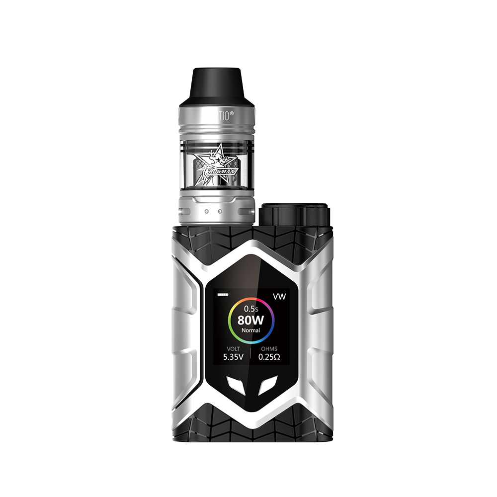 Vaptio Wall Crawler Vape KIT with FROGMAN XL TANK 5.0ML 80W Resistance 0.05/2ohm E Cigarette TCR 1.3inch TFT Screen fit TFV8tank