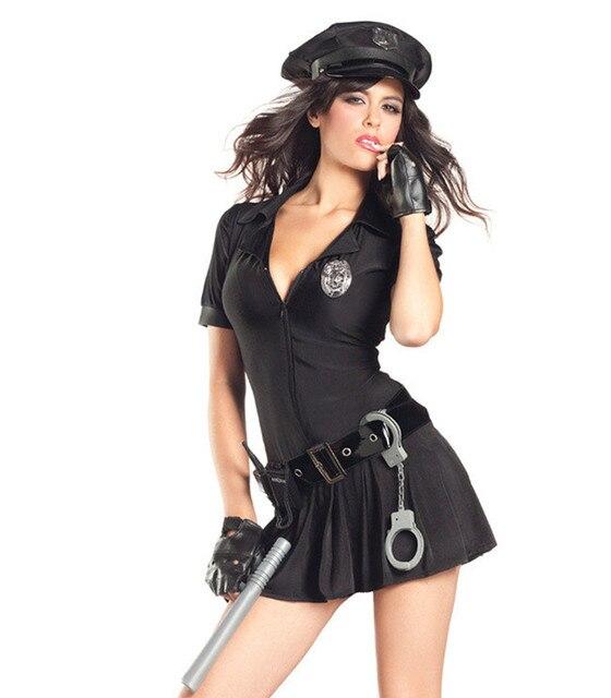 dfb1aefe9 New Fantasia Halloween Outfit Cosplay Policial de Trânsito Preso Vestido  Sexy Cosplay Uniforme Da Polícia Polícia
