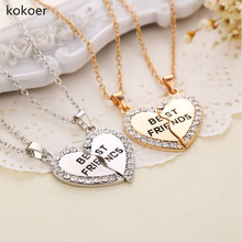 2017 Mens Stainless Steel Chain  Heart Love Necklaces for Couples Korean Ladies Fashion Trendy Paired Suspension Pendants Model