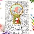 Красочная кошка Jetoy  Раскрашивание книг для взрослых  снятие стресса  граффити  рисование  секретный сад  художественные книжки-раскрашиван...
