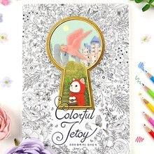 Coloré Jetoy chat coloriage livres pour adultes soulager le Stress Graffiti peinture dessin Secret jardin art coloriage livres