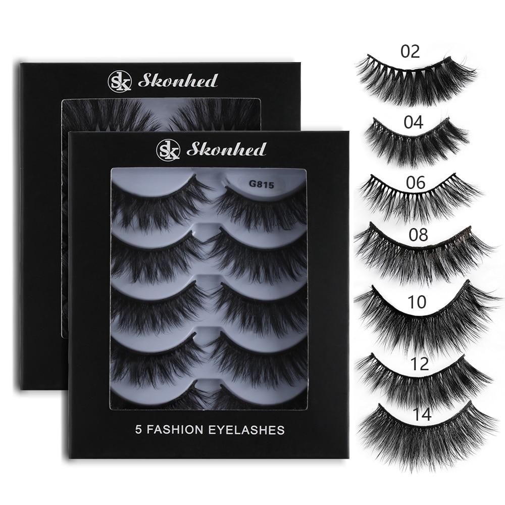 27c3272cecc 5 Pairs Black 3D Mink Hair False Eyelashes Extension Wispy Cross False Eye Lash  Long Lashes Beauty Makeup Tools Maquiagem-in False Eyelashes from Beauty ...