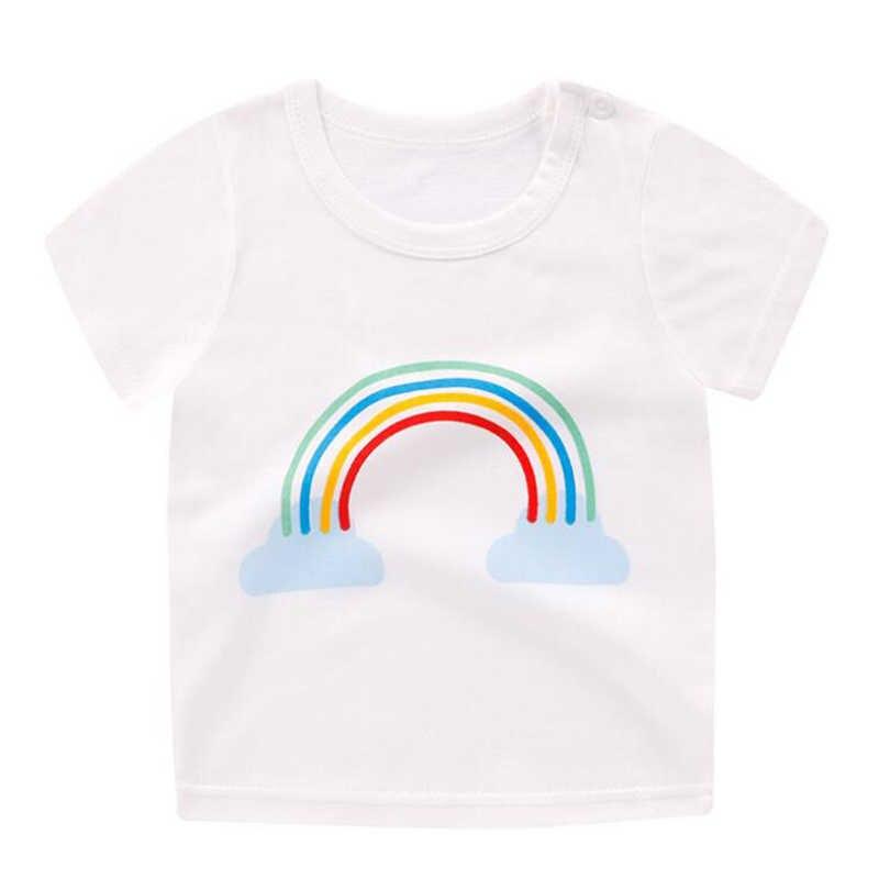 AmyaBaby 2019 ฤดูร้อนชายเสื้อผ้าฝ้ายเสื้อยืดเด็กเสื้อผ้าเด็กทารกเสื้อเด็กวันเกิดเสื้อยืดสำหรับชายหญิง