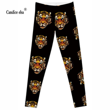 Hot Wholesale Fashion 2016 Womens Pirate Costume Leggins Pants Digital Printing NEW &HOT TIGER  LEGGINGS