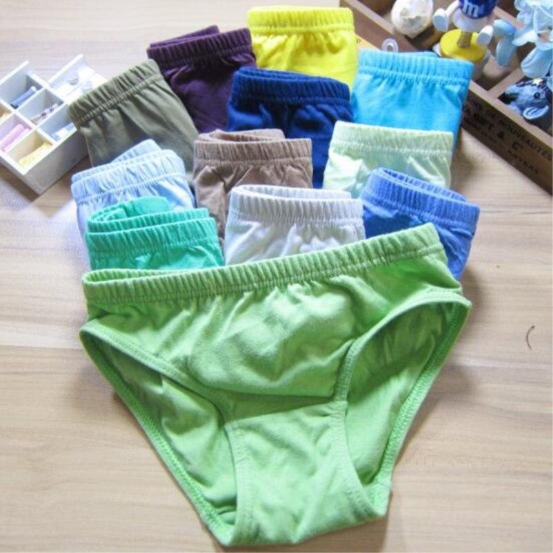 3pc Solid Baby Boys Panties Briefs Kids Underwear Boys  Panties Children  Underwear Suit for 1--12 Years 3