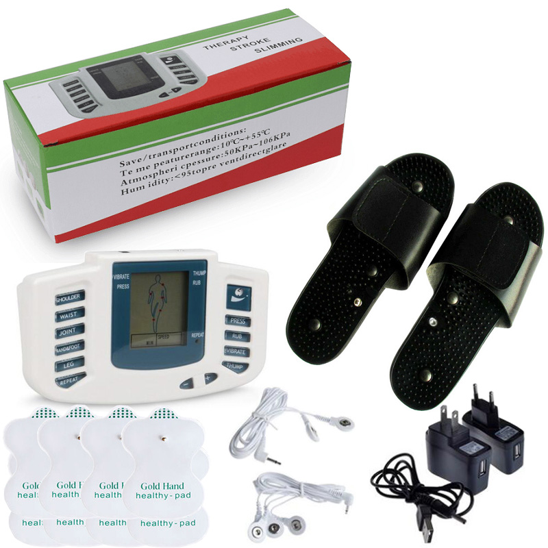 New With 8pcs Pads Full Body Muscle Relax Pulse Electrical Stimulator tens Acupuncture Health Care MassagerNew With 8pcs Pads Full Body Muscle Relax Pulse Electrical Stimulator tens Acupuncture Health Care Massager