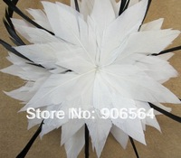 Gratis verzending groothandel de mode witte en zwarte veer tovenaar haaraccessoires dames bruiloft hoofddeksels XBC01 2 stks/partij
