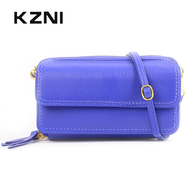 KZNI Women Bags Handbags Genuine Leather Shoulder Bag for Girl Ladies Purse and Handbags Female Bolsos Mujer Femmes Sac 2162 все цены