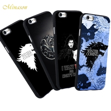 For iPhone 5 S 5S SE 7 Plus 6 6S Case The Game of Thrones Map Jon Snow Wolf Targaryen Symbols Phone Black Silicone Soft Case