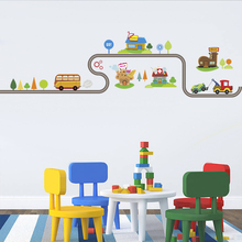 DIY PVC Highway Track Car Wall Stickers Home Decoration Sticker for Kids BOYS Room Wallpaper Decorative Decal Decor