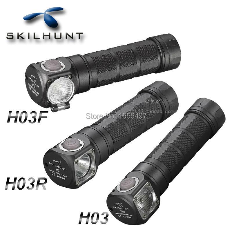Novedad Skilhunt H03 H03R H03F faro Led Lampe Frontale Cree XML1200Lm faro delantero caza pesca Camping + diadema