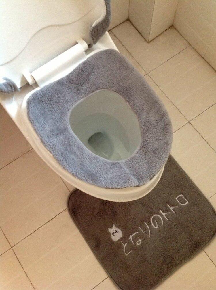 3 pcs/set Cartoon Design Toilet Seat Cover Sets Totoro Bathroom ...