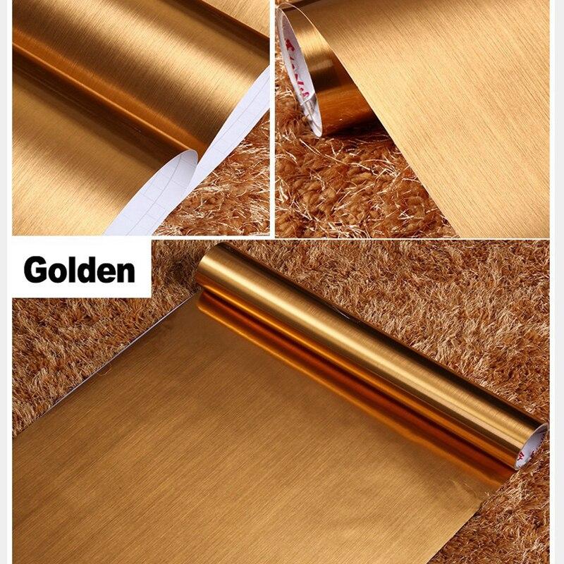 10m Self Adhesive Reflective Film Mirror Glass Stickers PVC Wallpaper Waterproof Kitchen Silver Window Film Gold Foil Wall Paper