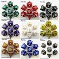 7 pc/bag Alta Qualidade Multi-Sided Dice Com Efeito Perolizado D4, 6,8, 10,10%, 12,20 conjuntos de dados, Masmorras e Dragões Jogo RPG Dice