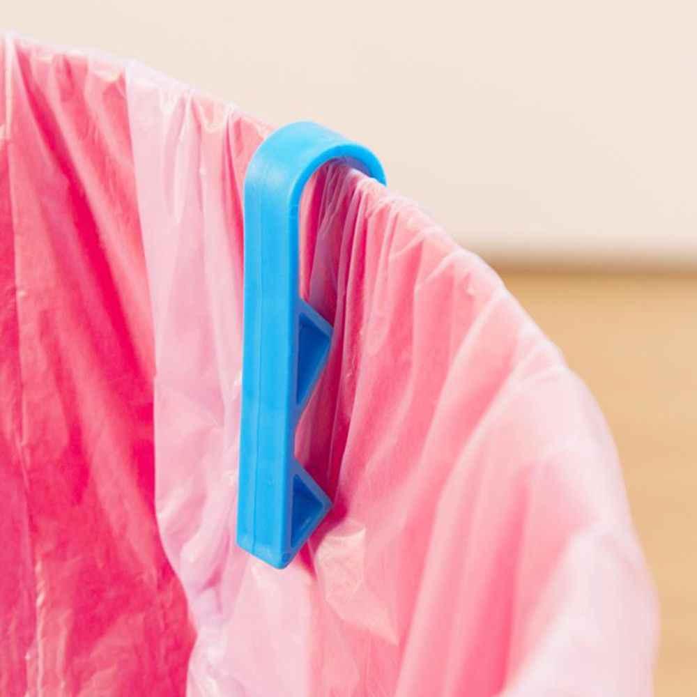 2Pcs Cesto de Lixo Saco de Lixo Clipe Fixo para Lixo Lixo Lixo Pode Grampo Titular Frete Grátis