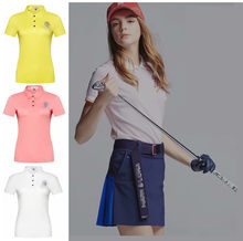 2019 new golf apparel ladies sportswear short-sleeved T-shirt spring and summer quick-drying breathable casual sweatshirt(China)