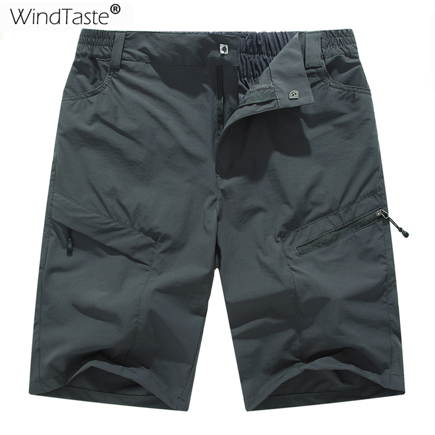 WindTaste Summer Men's Quick Dry Breathable Climbing Shorts Outdoor Sportswear Trekking Fishing Sports Male Short Trousers KA120