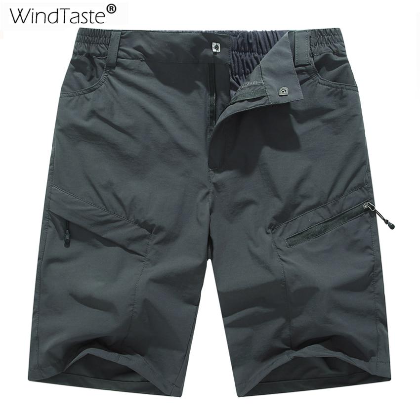 WindTaste Summer Men's Quick Dry Breathable Climbing Shorts Outdoor Sportswear Trekking Fishing Sports Male Short Trousers KA120
