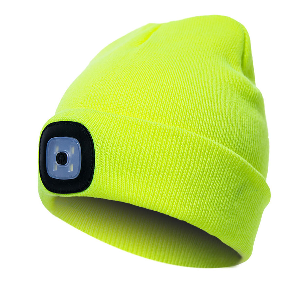 Unisex Climbing Hat Fishing Camping Knitted LED Light Outdoor Running Beanie