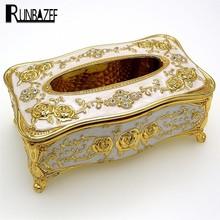RUNBAZEF Fashion Car Home Acrylic Tissue Box High-end European Crystal Decoration Room KTV Hotel Supplies Home Furnishing Box