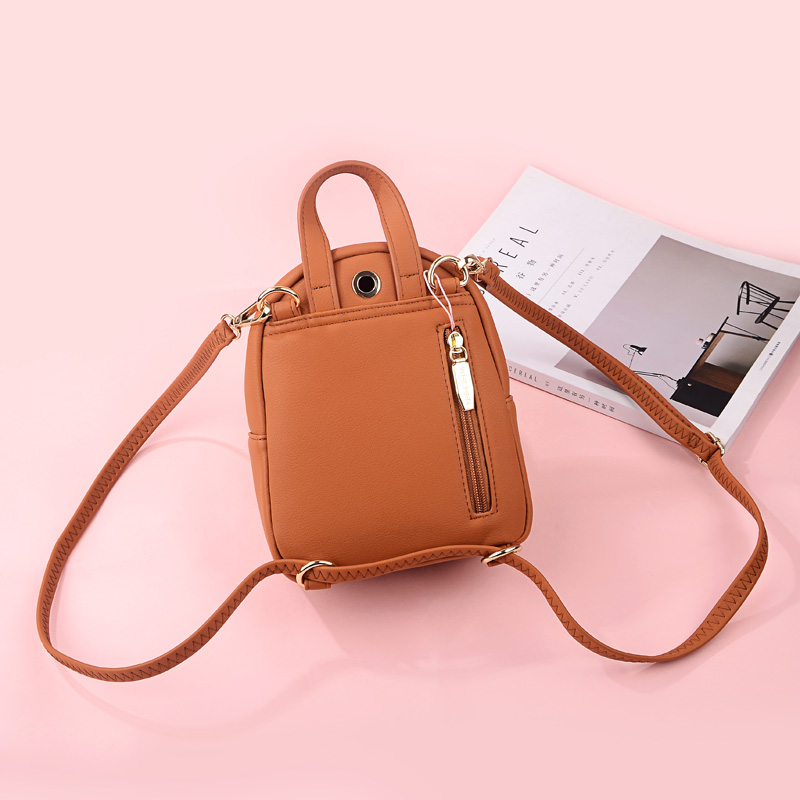 Weichen New Designer Fashion Women Backpack Mini Soft Touch Multi-function Small Backpack Female Ladies Shoulder Bag Girl Purse #4