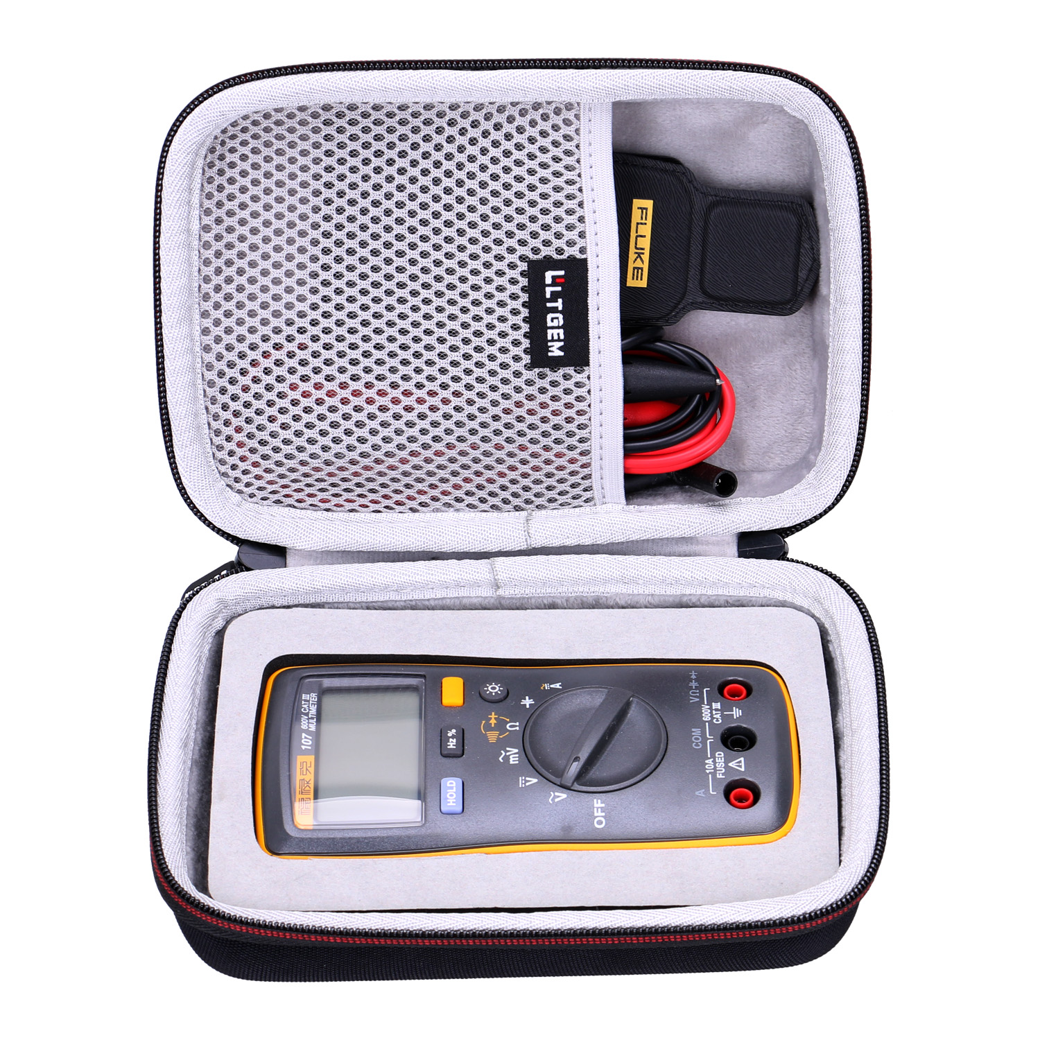 LTGEM EVA Waterproof Carrying Hard Case For Fluke 107 AC/dc Current Hand Held Digital Multimeter