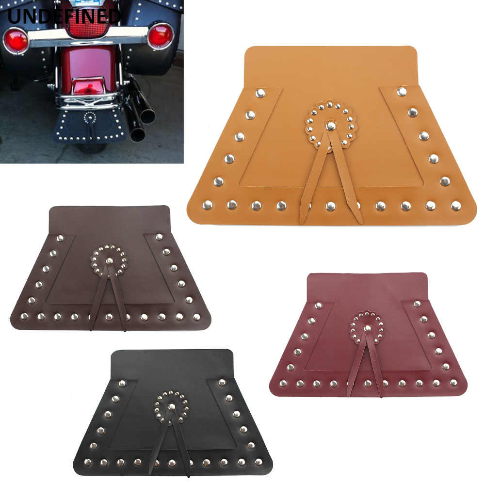 Motorcycle Parts Black Double Leather Front Fender Flap Mud Guard For Harley Touring Electra Road Street Glide Heritage Softail