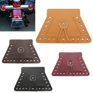 Motorcycle PU Leather Front/Rear Mudguard Fender Flap Mud Guard For Indian Chief Classic Chief Dark Horse Springfield Cafe Racer
