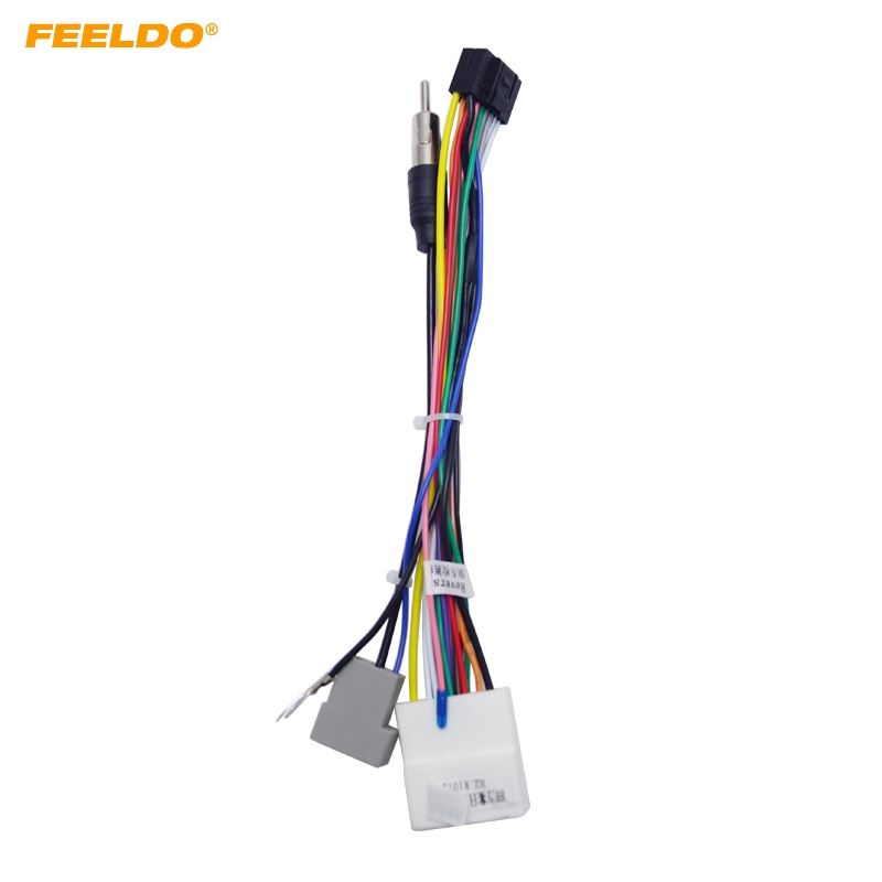 Feeldo 10pcs 16p Car Head Unit Wire Harness Adapter For