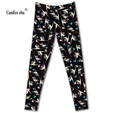 Hot sales new sexy digital printing women leggings fashion red-crowned crane pant capris soft fitness plus size drop shipping