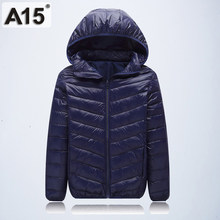 A15 Children Outerwear Warm Coat 2019 Girl Jacket Spring Autumn Winter Hooded Toddler Teenage Jackets for Boys Age 10 12 14 16 Y(China)