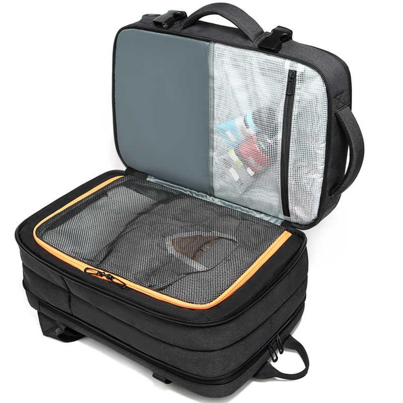 """Expansão para o Negócio Masculino Mochila multifuncional Mochila de Viagem de Carregamento USB 15.6 """"Laptop Mochila mochila Grande Capacidade"""