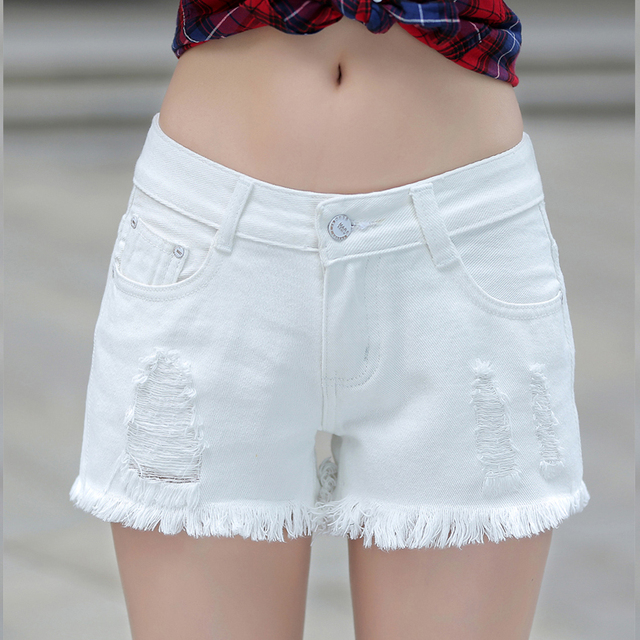 6210212a63 2016 New Destroyed Dirty Ripped Distress Denim Shorts Jeans Summer Sexy  Women's Lady Fashion Slim Fit