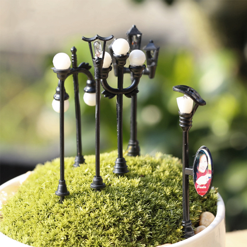 Artificial:  Craft Vintage DIY Miniature Lamp Creative 1PC Garden Home Decoration Mini Artificial Micro Landscaping - Martin's & Co