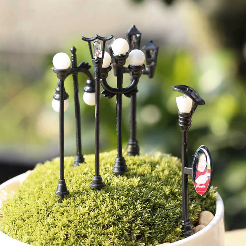 Craft Vintage FAI DA TE In Miniatura Lampada Creativa 1PC Giardino Della Decorazione Della Casa Mini Artificiale Micro Paesaggio