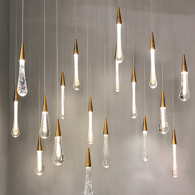 Хрустальные подвесные светильники Stallcase, подвесные светильники с длинным кабелем, простые подвесные светильники для ресторана, бара, декор...