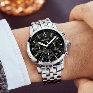 Image 5 - Erkek kol saati GUANQIN 2019 メンズ腕時計ビジネスクォーツ時計防水時計メンズ腕時計トップブランドの高級クロノグラフ腕時計