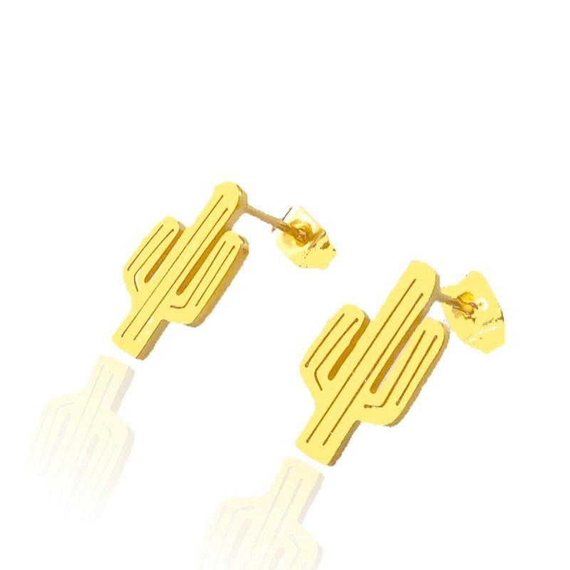 10Pair Summer Southwest Desert Saguaro Cactus Stud Earring For Women Men Boho Jewelry Pendientes Boucle Doreille BFF