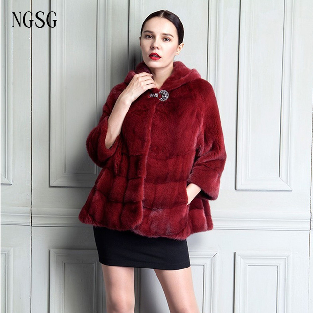 f6d8af6fb The Best Mather Festival Gift Women's Mink Fur Coat 60 CM Length Grace Lady  Dark Red Gorgeous Solemn Formal Occasion FQ13020 1-in Fur & Faux Fur from  ...