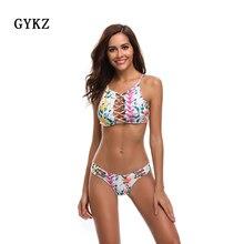 Купить с кэшбэком 2019 New Brazilian  Sexy String Bikini Halter  Swimsuit Summer Beach Women Biquini Push Up Swimwear High Quality Set Set Thong