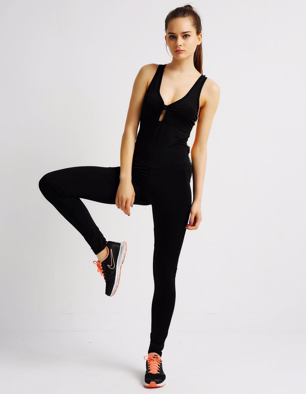 Elasticity Fitness backless Jumpsuit, Sexy Bodysuit Fashion Bandage 9